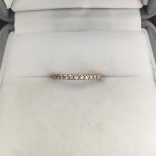 ヨンドシー(4℃)の4℃ ダイヤモンド エタニティ リング K18PG 1.1g(リング(指輪))