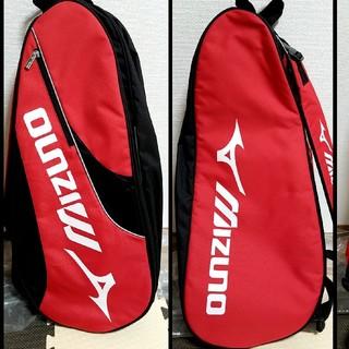 ミズノ(MIZUNO)の★テニスバッグ ★赤★Mizuno★2.3本入ります★(テニス)