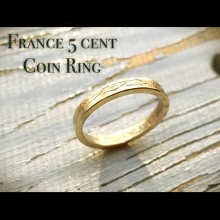 フランス5centコインリングゴールドフィニッシュ(リング(指輪))