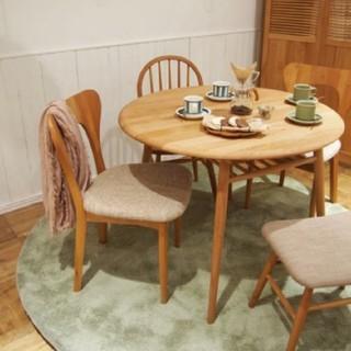 ウニコ(unico)のモモナチュラル 丸テーブル用透明ビニールクロス(テーブル用品)