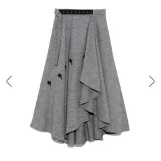 フレイアイディー(FRAY I.D)のチェックツイードスカート(ロングスカート)