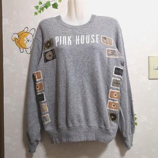 ピンクハウス(PINK HOUSE)の大人可愛い❤️ワッペンたくさんトレーナー ピンクハウス(トレーナー/スウェット)