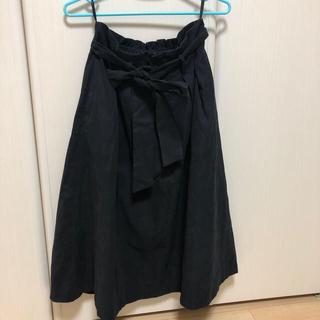 コムサイズム(COMME CA ISM)のフレアスカート 黒(ロングスカート)