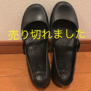 クロックス(crocs)のクロックス 黒 24-25センチ(サンダル)