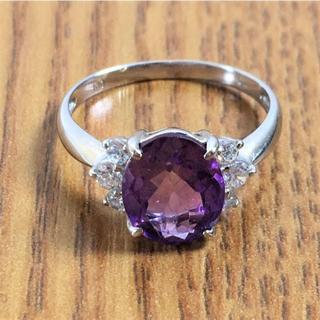K10 紫石付きリング 指輪 2.0g(93015010)(リング(指輪))
