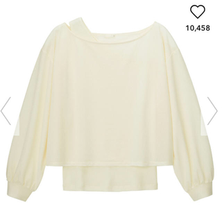 ジーユー(GU)のシアーコンビネーションT(Tシャツ(長袖/七分))