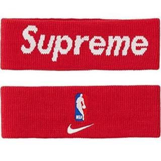シュプリーム(Supreme)のSupreme × NIKE NBA ヘアバンド レッド(ヘアバンド)