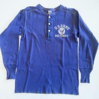 トイズマッコイ(TOYS McCOY)のトイズマッコイ サーマル 長袖Tシャツ L ブルー AAF USAF(Tシャツ/カットソー(七分/長袖))