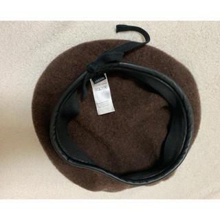 マウジー(moussy)のmoussy パイピングベレー帽(ハンチング/ベレー帽)