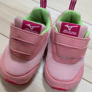 ミズノ(MIZUNO)の子供靴 ミズノ 良品 14cm ピンク 靴(スニーカー)