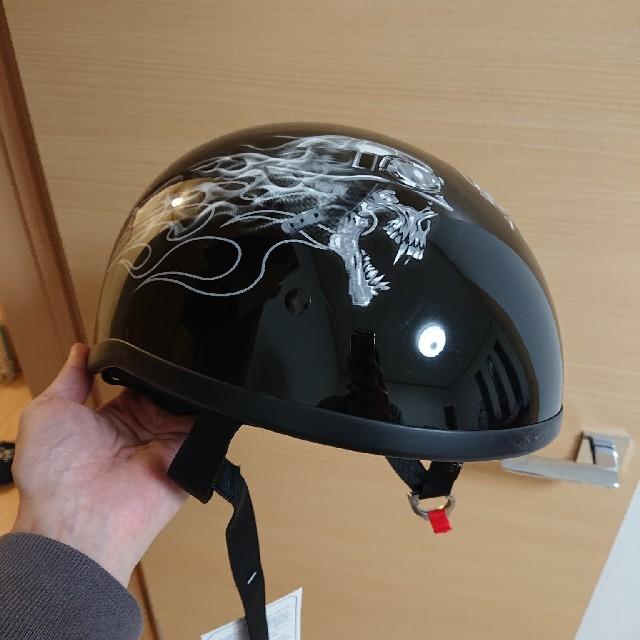ハーフヘルメット 自動車/バイクのバイク(ヘルメット/シールド)の商品写真