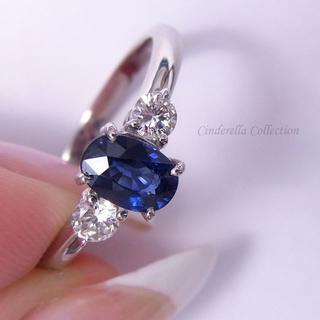 Pt950天然サファイア★ロイヤルブルー「天使の瞳の指輪」AIGS(リング(指輪))