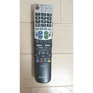シャープ(SHARP)のSHARPシャープ 液晶テレビ(AQUOS)純正リモコン❗テレビ機❗  美品 (その他)