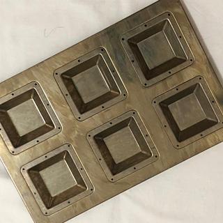 千代田金属 CHIYODAキャレ6個型★新品未使用★フィナンシェ 天板焼き型