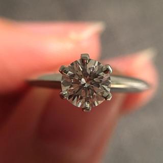 ティファニー(Tiffany & Co.)の大粒0.38ct pt950 正規品本物 ティファニー ダイヤモンドリング (リング(指輪))
