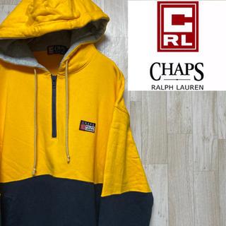 CHAPS - 【チャップス】ハーフジップパーカー☆ワンポイントロゴ☆バイカラー