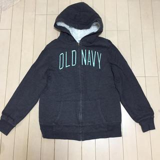 オールドネイビー(Old Navy)のパーカー 中ボア オールドネイビー M チャコールグレー(パーカー)