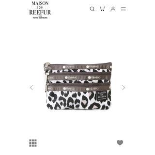 メゾンドリーファー(Maison de Reefur)の【新品】MAISON DE REEFUR Three Zip Cosmetic(ポーチ)