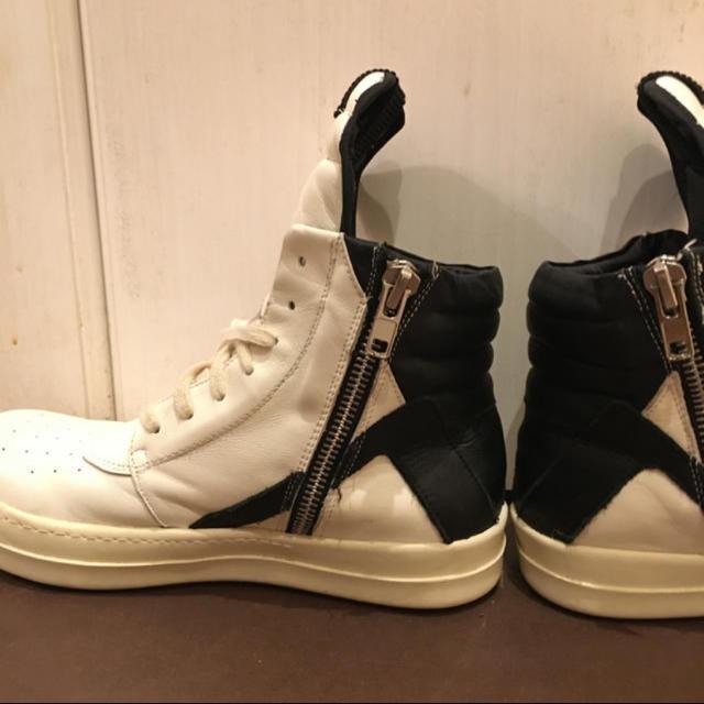 Rick Owens(リックオウエンス)のRickowens ジオバスケット 白 メンズの靴/シューズ(スニーカー)の商品写真