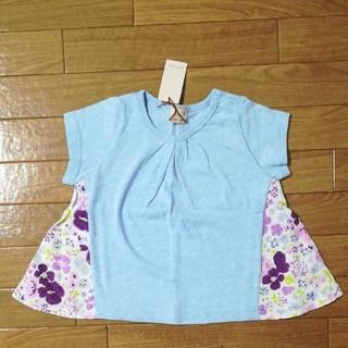 プティマイン(petit main)のpetit main 花柄 Tシャツ 80(Tシャツ)
