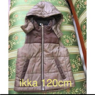 イッカ(ikka)のベスト ジャケット 120cm ikka ブラウン(ジャケット/上着)