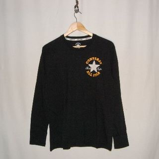 コンバース(CONVERSE)の新品!コンバース ロンT サガラ刺繍 BK LLサイズ 白の星 金の文字(Tシャツ/カットソー(七分/長袖))