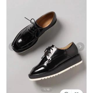 ジーナシス(JEANASIS)の【未使用品】スクエアトゥマニッシュ(ローファー/革靴)