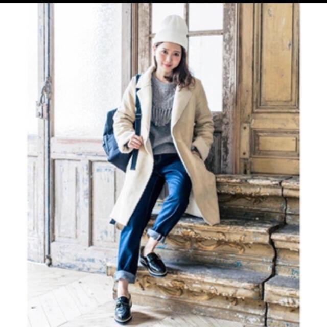 mysty woman(ミスティウーマン)のミスティウーマン☆田中里奈コラボ フェイクムートンロングコート レディースのジャケット/アウター(ムートンコート)の商品写真