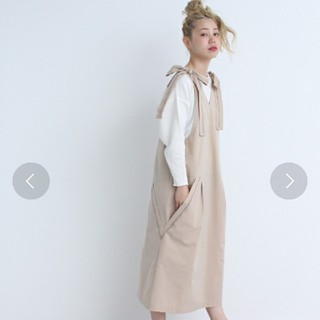 アトリエドゥサボン(l'atelier du savon)のcaph  ピコ刺繍ジャンバースカート(ロングワンピース/マキシワンピース)
