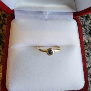 サファイヤ K18  リング 指輪(リング(指輪))