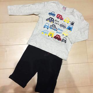 プティマイン(petit main)の長袖 ズボン 95 男の子 セット(Tシャツ/カットソー)