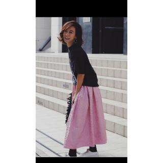 チェスティ(Chesty)のロージーモンスター☆ジャガードスカート☆ピンク☆新品(ロングスカート)