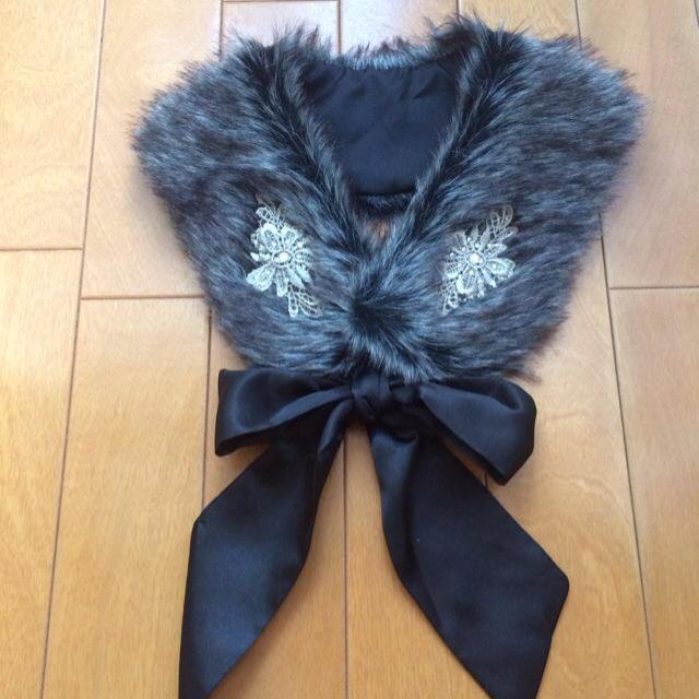 axes femme(アクシーズファム)のaxes ファーティペット/黒 レディースのアクセサリー(つけ襟)の商品写真