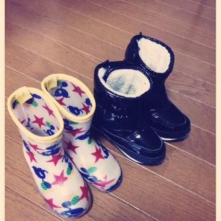 ムージョンジョン(mou jon jon)の16センチ 長靴・スノーブーツセット(長靴/レインシューズ)