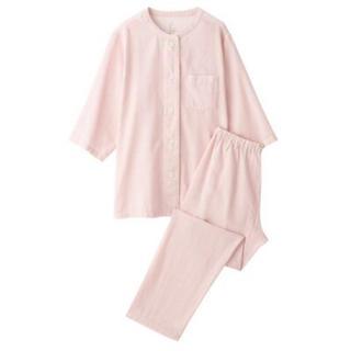MUJI (無印良品) - 新品   無印良品  脇に縫い目のない 細番手二重ガーゼ七分袖パジャマ