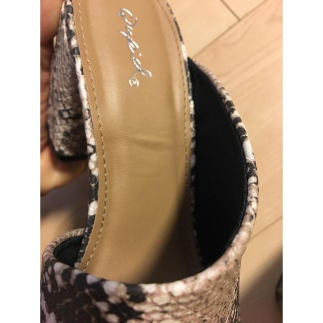 ZARA(ザラ)の未使用 パイソン サンダル レディースの靴/シューズ(サンダル)の商品写真