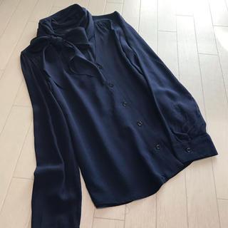 マックスマーラ(Max Mara)のマックスマーラ ウィークエンド 襟元リボン とろみ素材ブラウス(シャツ/ブラウス(長袖/七分))