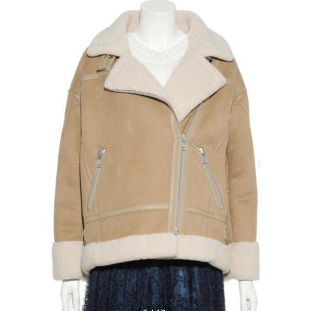 fur fur(ファーファー)のFURFURファーファー★フェイクムートンボンバー・ジャケット レディースのジャケット/アウター(ムートンコート)の商品写真