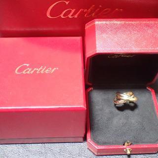 カルティエ(Cartier)の【正規品】K18/カルティエトリニティ三連リング/#53/日本サイズ13号/箱付(リング(指輪))