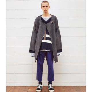 アンユーズド(UNUSED)の値下げ UNUSED ウール ノーカラー コート 16AW gray サイズ2 (ノーカラージャケット)