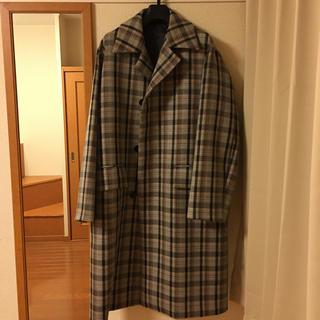 コモリ(COMOLI)のAURALEE double face check coat 19aw(ステンカラーコート)