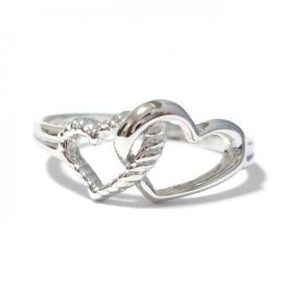 5号 ピンキー ダブルハート シルバーリング(リング(指輪))