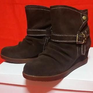 ●新品●KISCO ショートブーツ●23cm*ダークブラウン●(ブーツ)