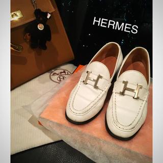 エルメス(Hermes)のHERMES エルメス   ローファー 革靴 オペラ シューズ Hマーク(ローファー/革靴)
