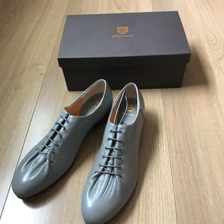 ショセ(chausser)のchausser ショセ クリンクル レースアップパンプス 25センチ新品(ローファー/革靴)