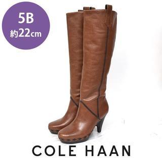 コールハーン(Cole Haan)の美品❤️コールハーン レザー ロングブーツ 5B(約22cm)(ブーツ)