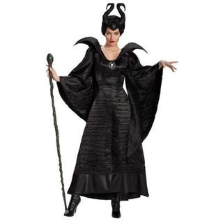 ディズニー(Disney)の試着のみ美品☆マレフィセント衣装ハロウィンコスチューム仮装黒魔女眠れる森の美女(衣装一式)