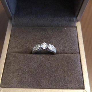 ショーメ(CHAUMET)のショーメ プリュム ダイヤモンド 0.41ct -D-VVS1 カラー最高ランク(リング(指輪))