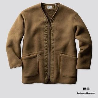 エンジニアードガーメンツ(Engineered Garments)のエンジニアガーメンツ コラボ フリースノーカラーコート ベージュSize-M(ノーカラージャケット)