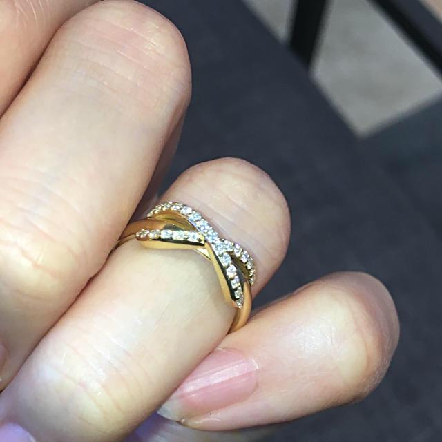 Tiffany & Co.(ティファニー)の本日限定価格!本物 K18 YGティファニー ダイヤモンド インフィニティリング レディースのアクセサリー(リング(指輪))の商品写真
